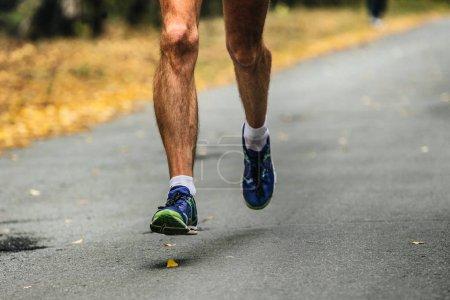 hairy legs male runner