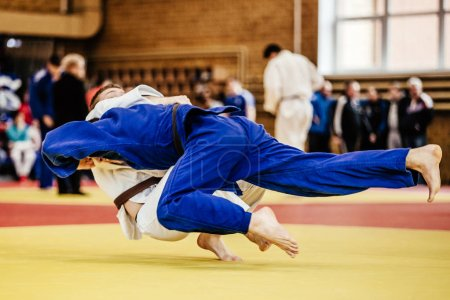 judoka wrestlers athletes