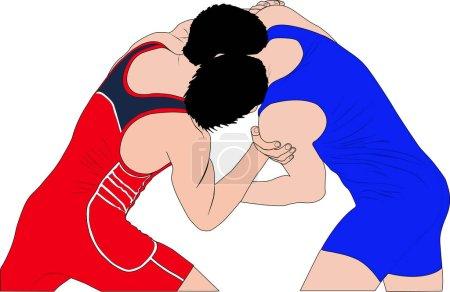 two men wrestlers in Greco-Roman wrestling