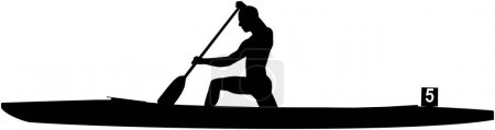 Rower athlete in canoe sprint