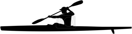 athlete kayaker sport kayak with paddle