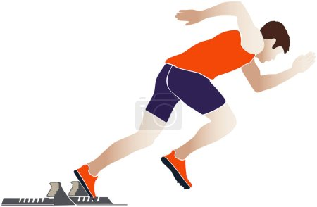 start sprinter athlete