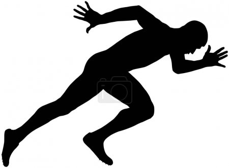 muscular sprinter runner