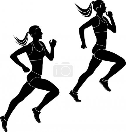 two women athletes runners