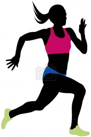 Young woman athlete runner