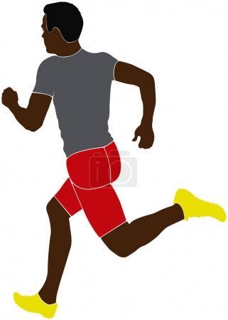 black man athlete sprinter