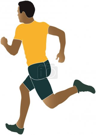 man runner running sprinter