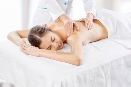 Woman relaxing with massage