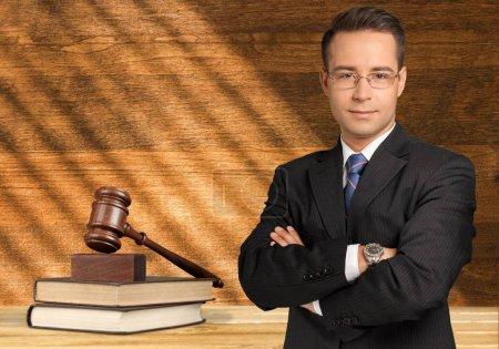 Handsome Caucasian lawyer