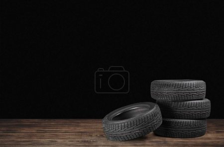 Tires objects isolated