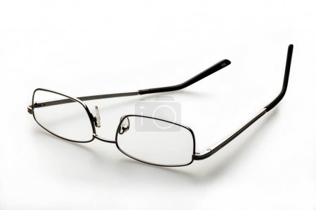 Single eyeglasses on white