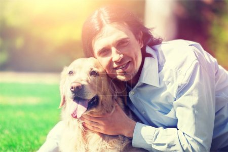 Male Veterinarian with dog