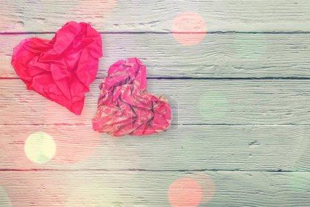 Photo pour Fond Saint-Valentin avec des cœurs rouges . - image libre de droit