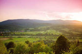 Bright rolling countryside around a farm in the evening light. Picturesque day and gorgeous scene. Location place Carpathian, Ukraine, Europe. Concept ecology protection. Explore the world's beauty.