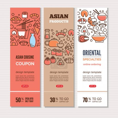 Sushi vertical banners
