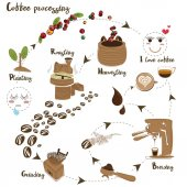 Vektor zpracování kávy