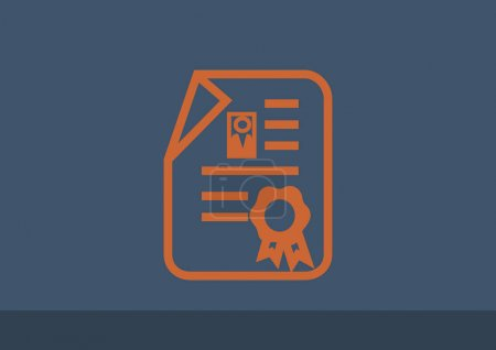 certificate web icon