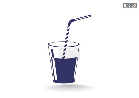 Cup with refreshing drink icon