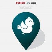 Web bird icon vector design