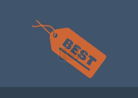 Illustration for Best inscription on label, outline vector illustration - Royalty Free Image
