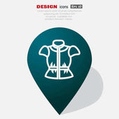 Simple web line blouse icon Vector illustration