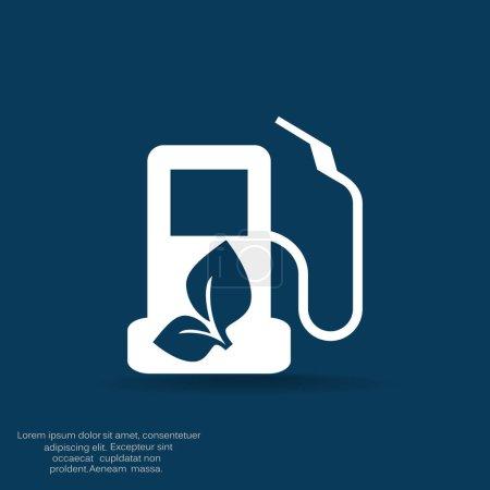 Eco Przyjacielski stacji benzynowej ikona