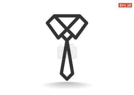 Simple tie icon