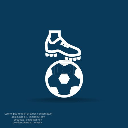 football boot with ball
