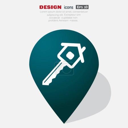 House key web icon