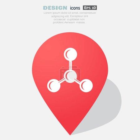 Molecule simple icon