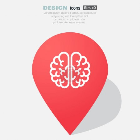 the human brain, web icon