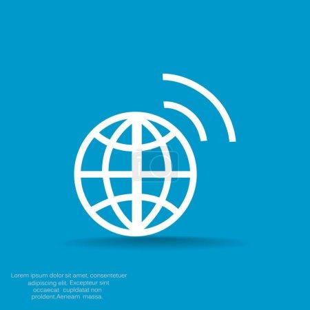 globe of social network