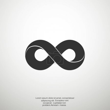 Infinity sign vector icon...