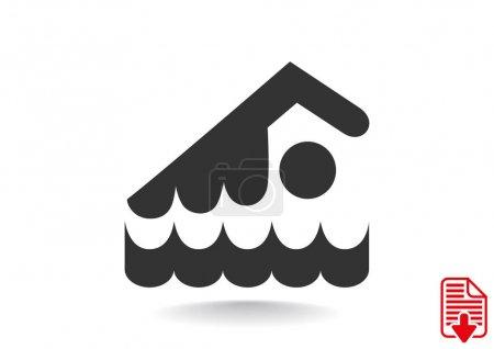 Swimmer athlete illustration