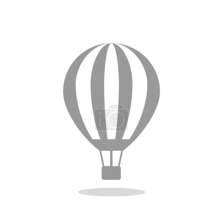 Illustration for Balloon aerostat web icon, outline vector illustration - Royalty Free Image