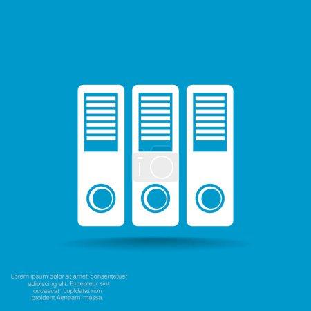 Document folders simple icon