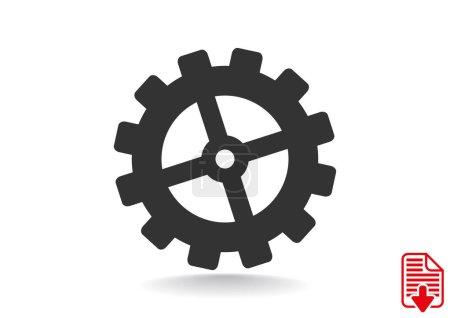 Illustration for Cogwheel web icon, vector design - Royalty Free Image