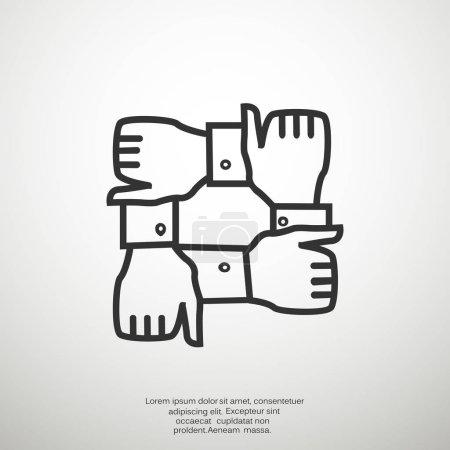 Illustration pour Icône web de partenariat. Illustration vectorielle - image libre de droit