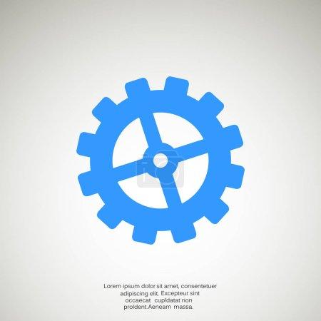 Illustration pour Icône web roue dentée, conception vectorielle - image libre de droit