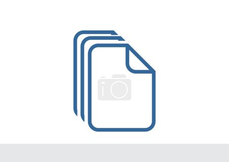 Files or papers web icon