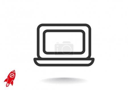 Simple laptop web icon