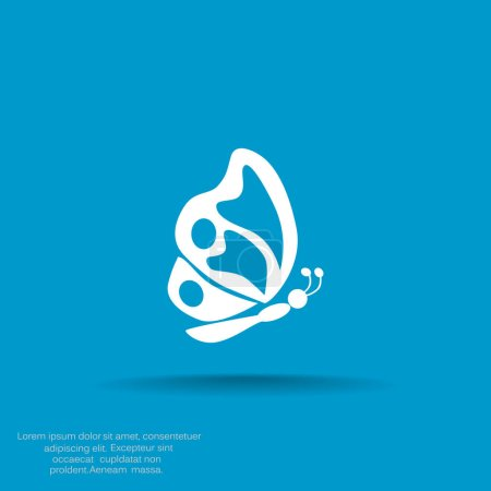 Simple butterfly web icon