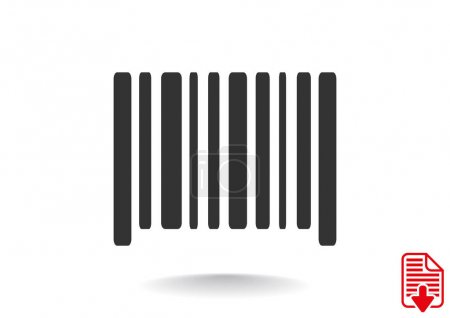 Simple barcode icon