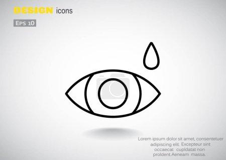 Eye drop simple icon