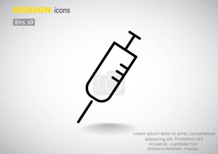 Simple syringe web icon