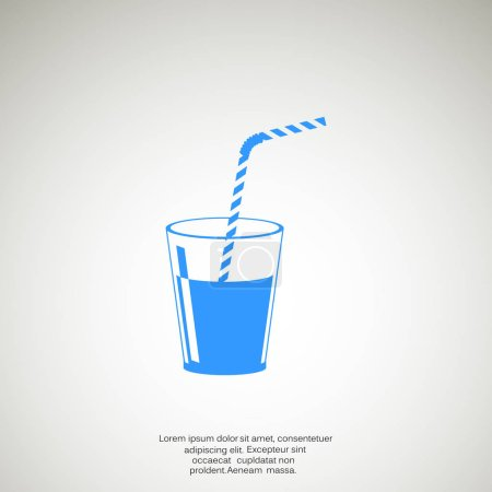 Illustration for Cup with refreshing drink icon, outline vector illustration - Royalty Free Image
