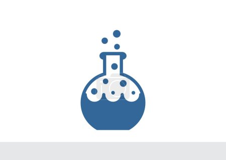 Chemical flask simple web icon