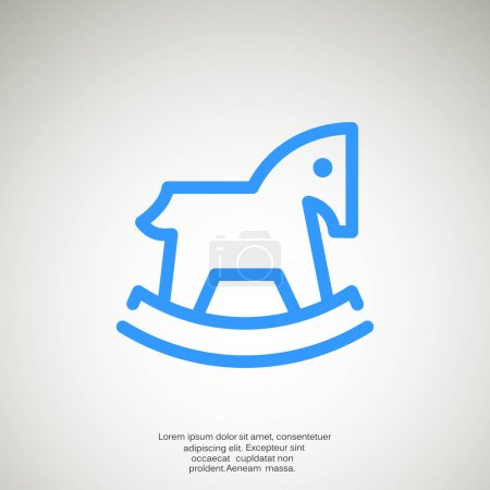 Children toy horse web icon