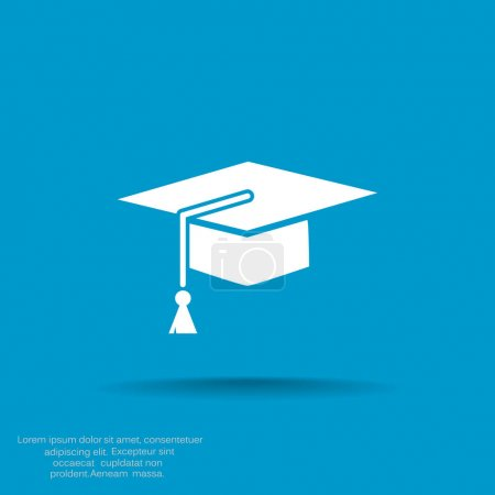 Illustration for Attributes of the student web icon. vector illustration - Royalty Free Image