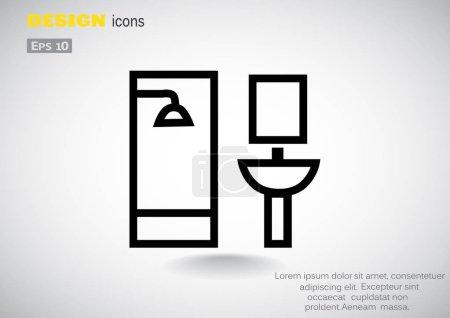 bathroom flat icon